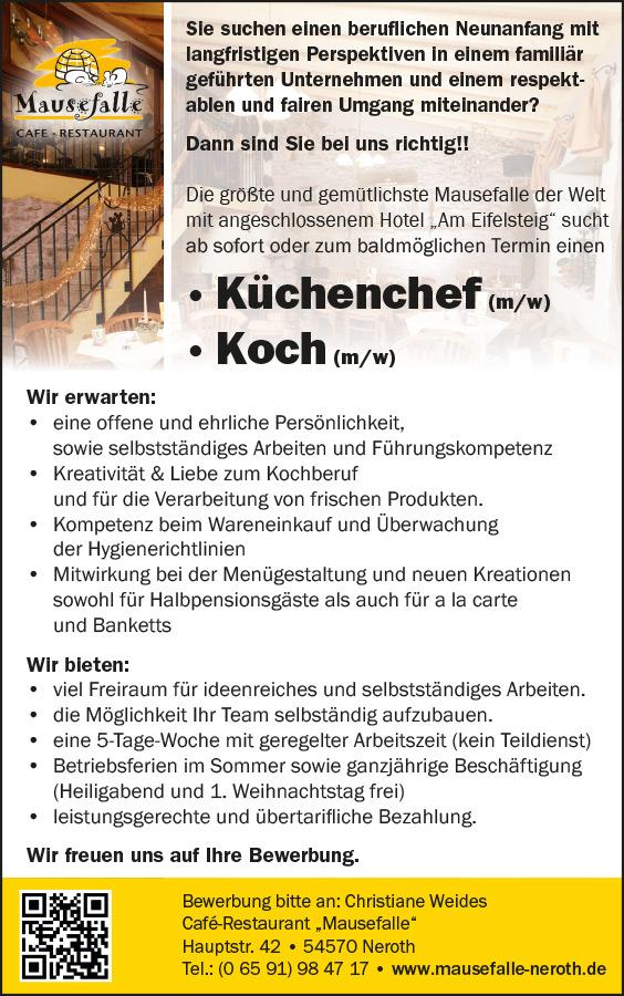 Ihre Karriere Café Restaurant Mausefalle Hotel Am Eifelsteig